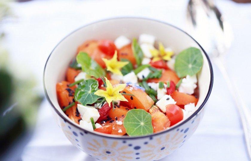salade d'abricots à la féta